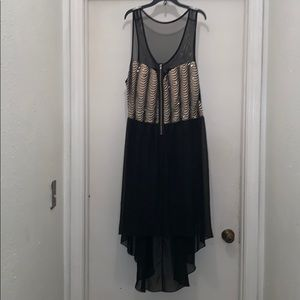 Deb high low dress w/sequins! Sheer, cool, & cute!